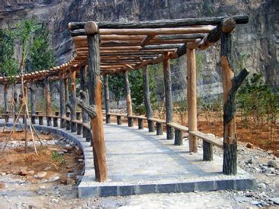 防木系列产品有:水泥仿木护栏